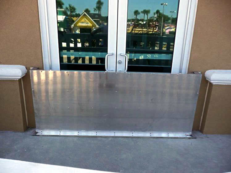 Flood Panel - flood barriers at Westgate Resort Myrtle Beach South Carolina & Flood Barriers - Flood barrier systems flood panels flood shields ...